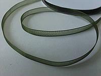 Лента органза 0,6 см темно-зелёная