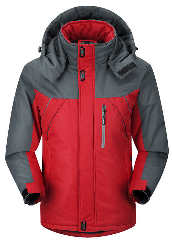 Куртка зимова чоловіча червона, довгий пуховик СС-7879-35