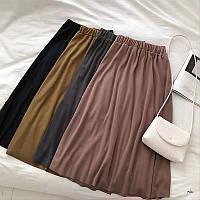 Женская стильная юбка миди (расцветки)