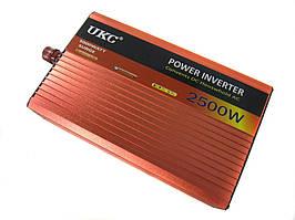 Перетворювач авто інвертор UKC 12V-220V AR 2500W c функції плавного пуску