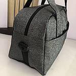 Женская спортивная сумка дорожная сумка Fila Nike Fendi серая, фото 4