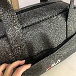 Женская спортивная сумка дорожная сумка Fila Nike Fendi серая, фото 6