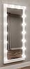 Навесное гримерное зеркало в полный рост с подсветкой НП-2