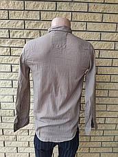 Рубашка мужская коттоновая брендовая высокого качества маленького размера ROCGER, Турция, фото 3