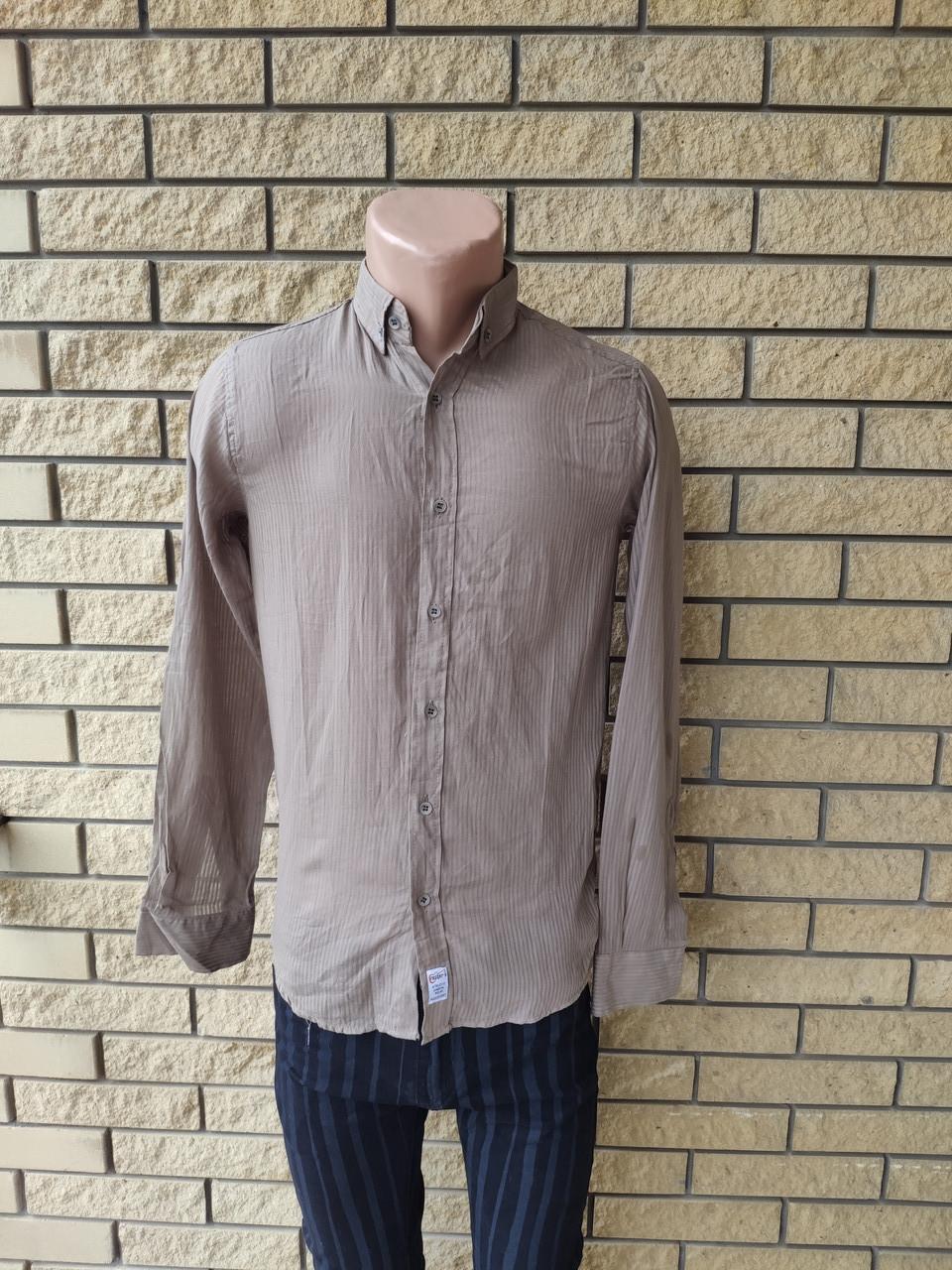 Рубашка мужская коттоновая брендовая высокого качества маленького размера ROCGER, Турция