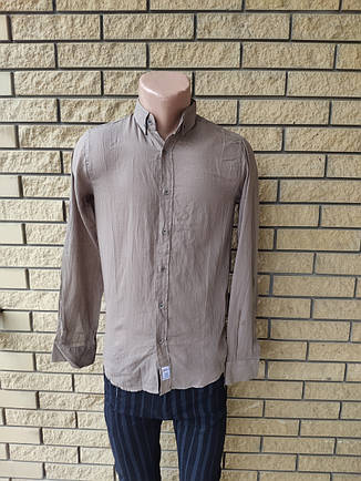 Рубашка мужская коттоновая брендовая высокого качества маленького размера ROCGER, Турция, фото 2
