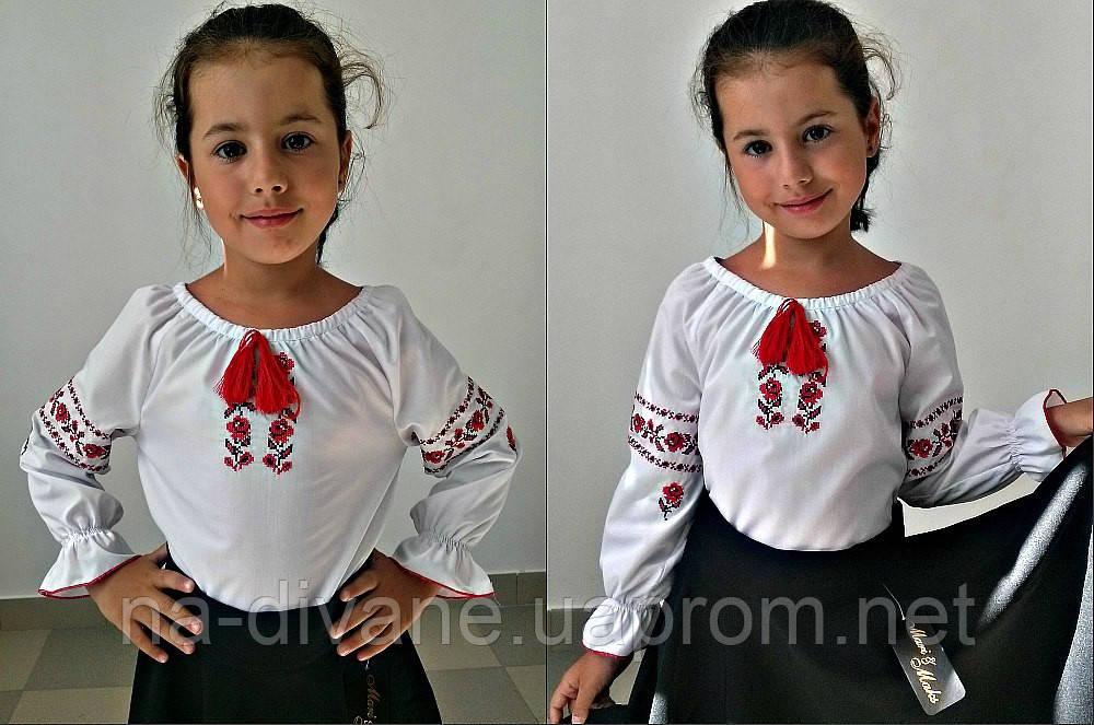 """Блузка детская с вышивкой 617-5 Mari - Женская, мужская и детская одежда оптом от Интернет-магазина """"На диване"""" в Чернигове"""