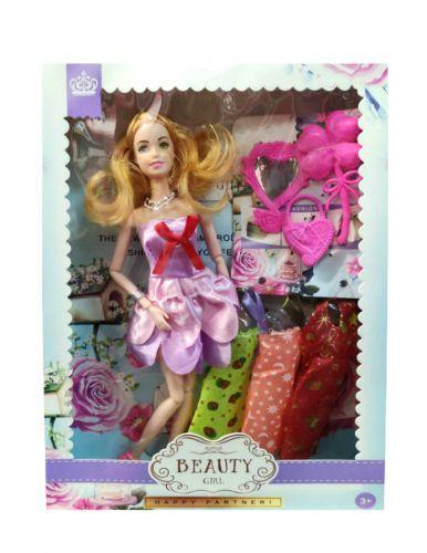 """Кукла с платьями и аксессуарами """"Beauty Girl"""" (в розовом платье)  sco"""