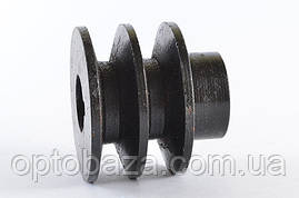 Шкив двухручьевой под шпонку для двигателей 6,5 л.с. (168F), фото 2