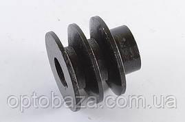 Шкив двухручьевой под шпонку для двигателей 6,5 л.с. (168F), фото 3
