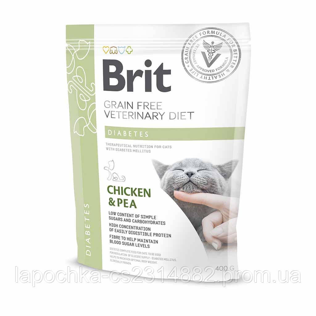 Корм Brit GF Veterinary Diets Cat Diabetes беззерновая диета для котов при сахарном диабете