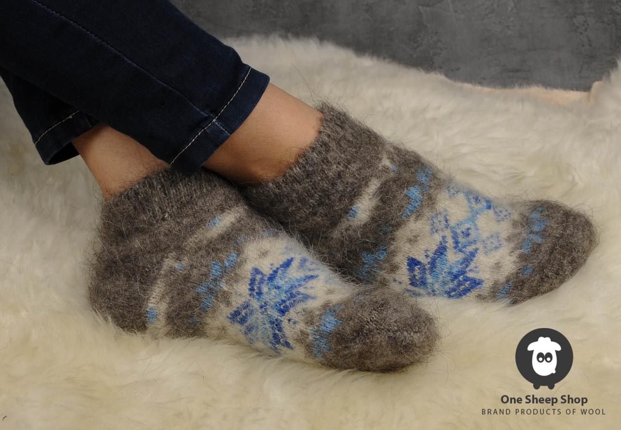 Тёплые женские носки из козьего пуха, размер 37-40, фото 1