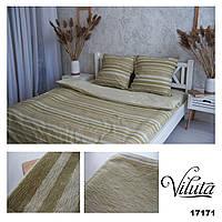 Комплект постельного белья Ранфорс 17171 olive - Полуторный