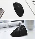 Оригінальна безпровідна вертикальна миша Delux M618SE / Ергономічна! / чорний, фото 9
