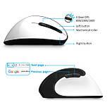 Оригінальна безпровідна вертикальна миша Delux M618SE / Ергономічна! / білий, фото 4