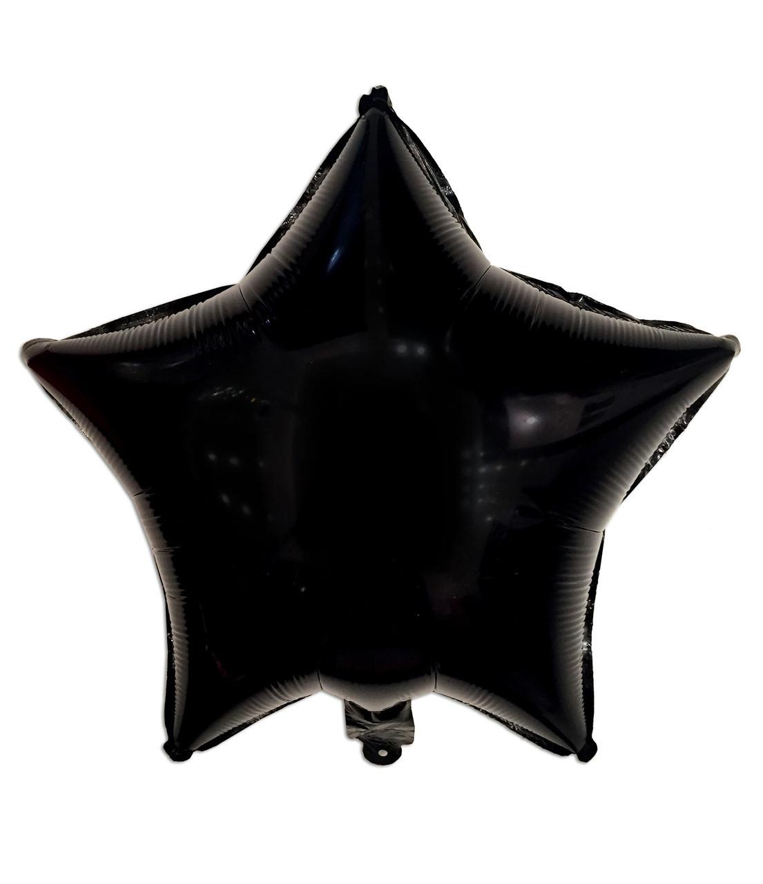 Кулька фольгований «чорна Зірка» діаметр 45см. 1463