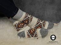 Женские носки, тёплые носки, вязанные носки, ангоровые носки, размер 37-39