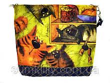Джинсовая сумочка Коты