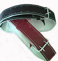 Пояс штангиста кожаный узкий