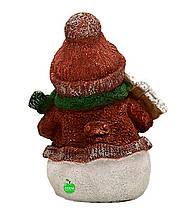 "Новогодняя садовая фигура Снеговик с табличкой ""З Новим Роком!"", фото 3"