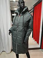 Жіноча тепла зимова куртка на силіконі, Батал, з капюшоном, від виробника, розміри 48-54,