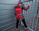 Зимняя парка Off White BLACK-RED красно-черная мужская, фото 4