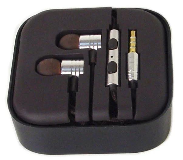 Наушники вакуумные с микрофоном MDR M2, серебро