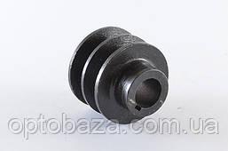 Шкив двухручьевой для двигателей 6,5 л.с. (168F)., фото 2
