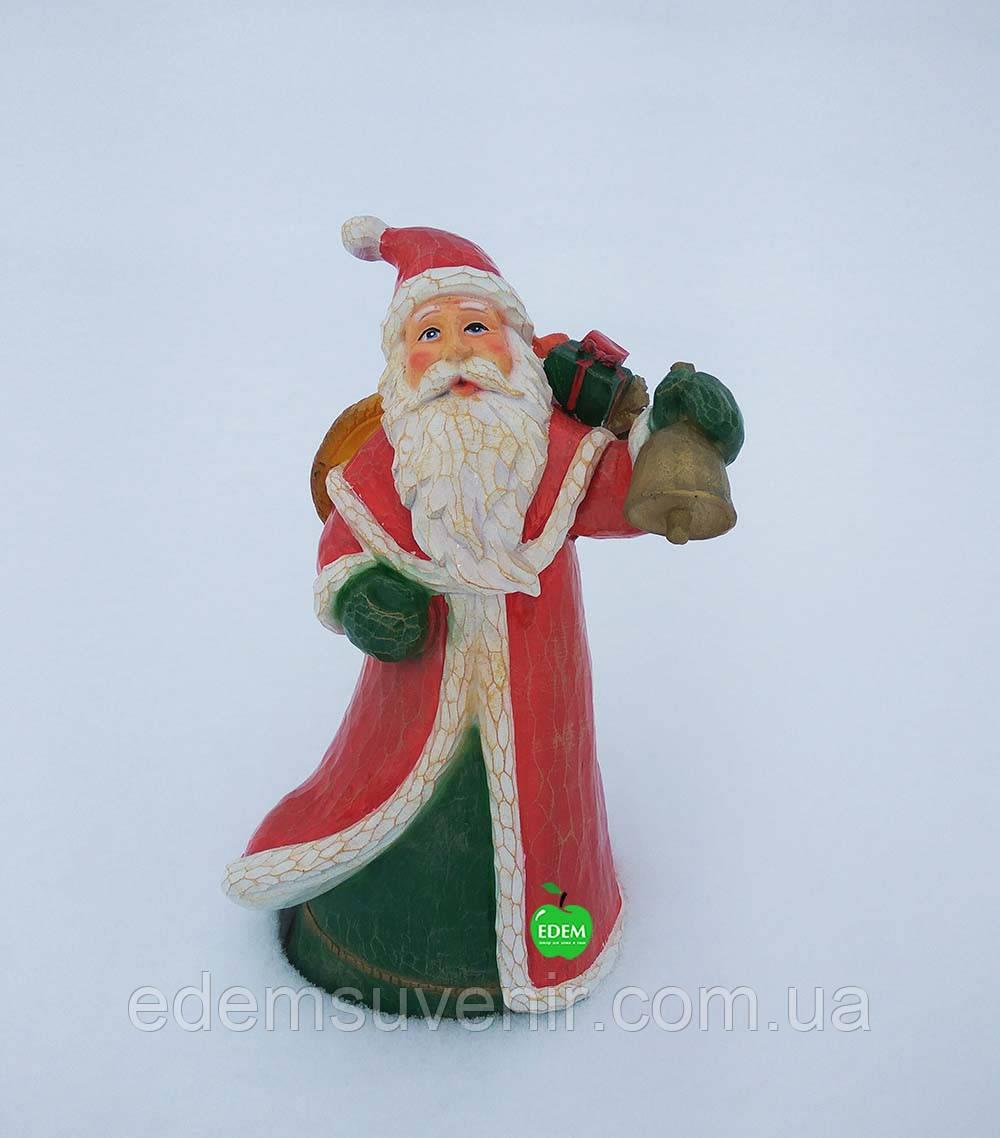 Новогодняя садовая фигура Дед Мороз с корзиной