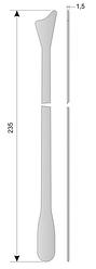 Ш-12(АГ 9-103) Шпатель гинекологический типа Эйра