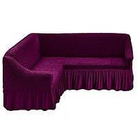 Чехол для углового дивана фиолетового цвета Evibu Турция