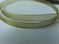 Лента органза 0,6 см оливковая