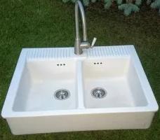 Кухонная накладная керамическая мойка IKEA Domsjo 491.581.74 (выставочный образец)