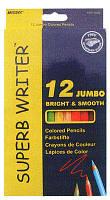 Карандаши цветные толстые 12цв. MARCO JUMBO Superb с точилкой 4400-12CB