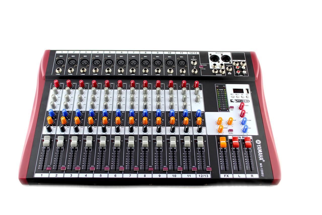 Микшер,  dj пульт Yamaha 12USB/ 1208U/ 1200D 12 канальный