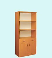 Шкаф книжный 2-дверный с 2 ящиками
