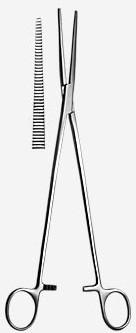 З-59-2  Зажим гинекологический  прямой № 2 285 мм