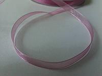 Лента органза 0,6 см розовая