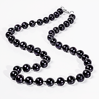 Намисто з чорного перлів, Ø8 мм, 45 див., 707БСЖ, фото 1