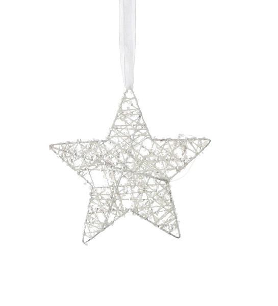 Украшение декоративное Звезда белая 15 см, House of Seasons