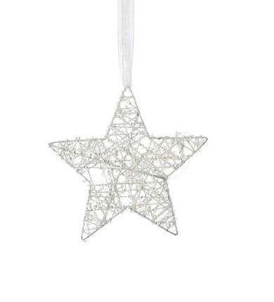 Украшение декоративное Звезда белая 15 см, House of Seasons, фото 2