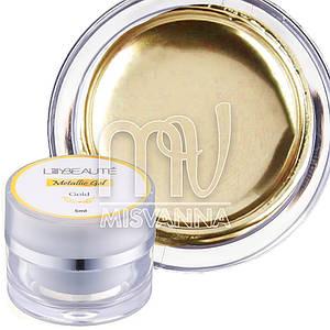 Металлизированный гель для дизайна Metalic Gel Lilly Beaute, 5 мл золото