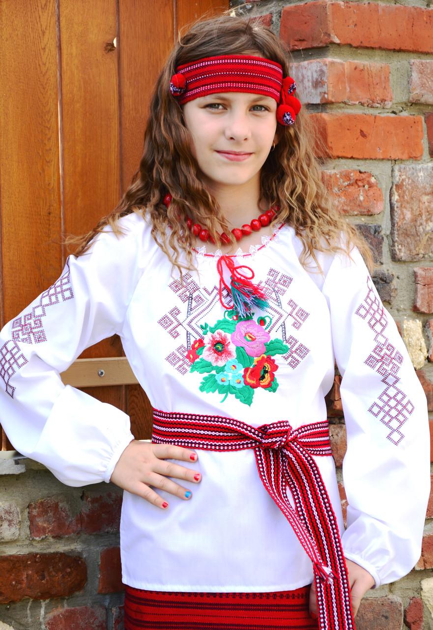 Вышиванка для девочек 122-128 см