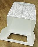 """Упаковка для тортів з картону """"Зима"""" 230*230*210, фото 2"""