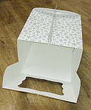 """Упаковка для тортів з картону """"Зима"""" 230*230*210, фото 4"""