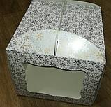 """Упаковка для тортів з картону """"Зима"""" 230*230*210, фото 3"""