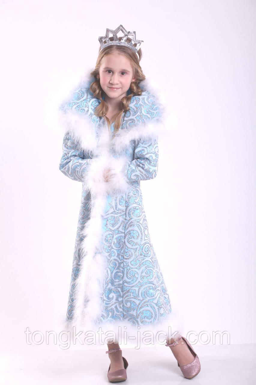 Платье снежной королевы 110-134 см, прокат карнавальных костюмов