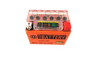 Аккумулятор 4A 12V Honda/Yamaha (YTX4L-BS) VLAND гелевий з індикатором 113x70x85, фото 2