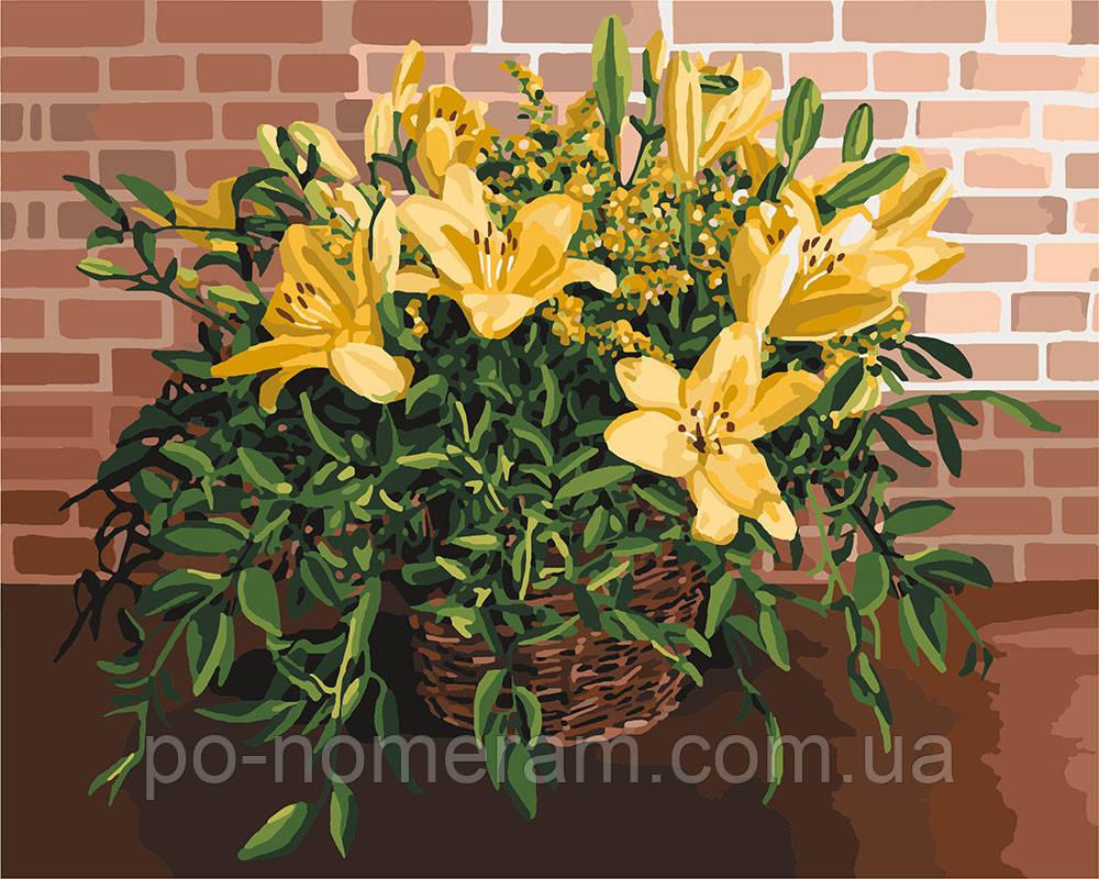 Картина по номерам Идейка Изысканные лилии (KH3067) 40 х 50 см