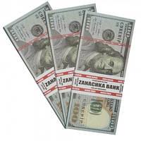 Пачка 100 баксов подарочная ( прикольные деньги доллары )